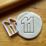 Number 11 Cookie Cutter/Dishwasher Safe