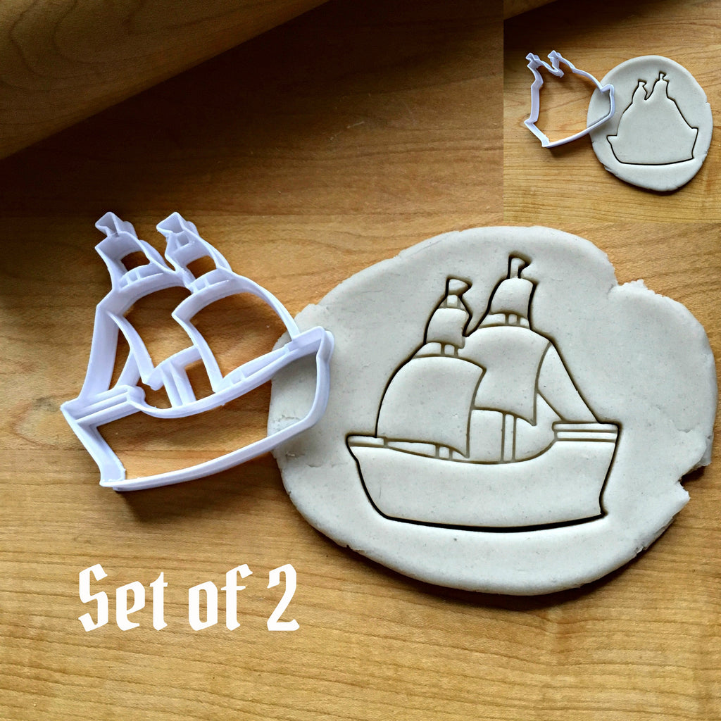 Set of 2 Pirate Ship Cookie Cutters