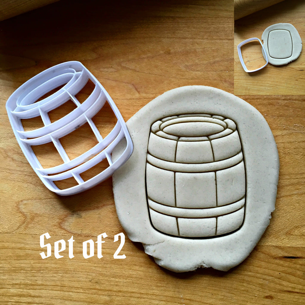Set of 2 Barrel Cookie Cutters