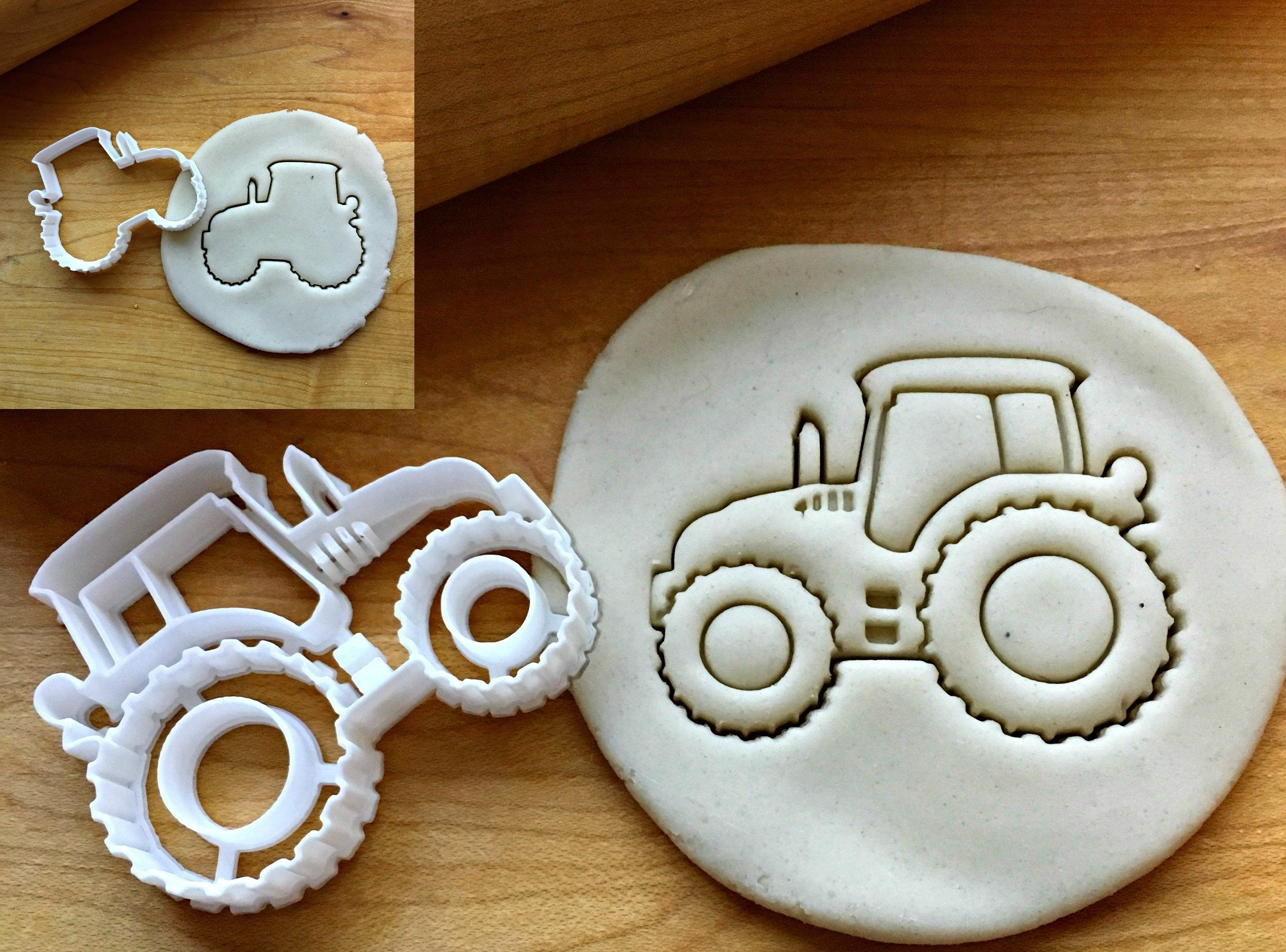 Set of 2 Modern Tractor Cookie Cutters/Dishwasher Safe