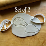 Set of 2 Construction Worker Hat Cookie Cutters/Dishwasher Safe
