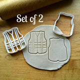 Set of 2 Construction Worker Vest Cookie Cutters/Dishwasher Safe