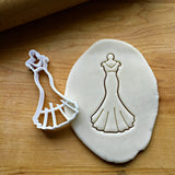 Wedding Dress on a Hanger Cookie Cutter/Dishwasher Safe