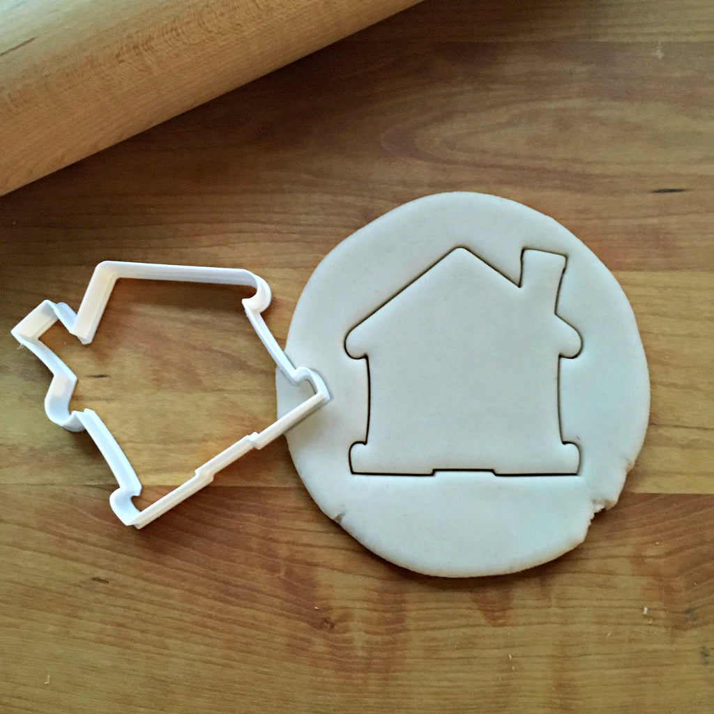 Cute House with Chimney Cookie Cutter