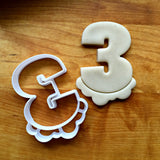 Bubble Number 3 Cookie Cutter/Dishwasher Safe
