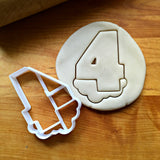 Bubble Number 4 Cookie Cutter/Dishwasher Safe