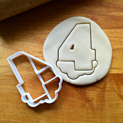 Bubble Number 4 Cookie Cutter