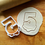Bubble Number 5 Cookie Cutter/Dishwasher Safe
