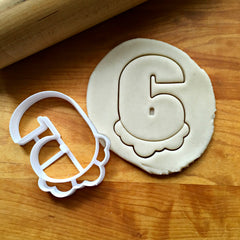 Bubble Number 6 Cookie Cutter