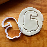 Bubble Number 6 Cookie Cutter/Dishwasher Safe