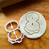 Bubble Number 8 Cookie Cutter/Dishwasher Safe