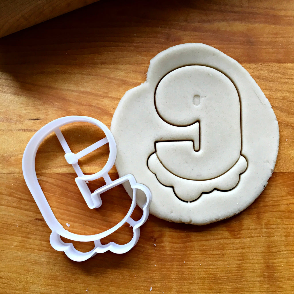 Bubble Number 9 Cookie Cutter/Dishwasher Safe