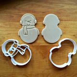 Set of 2 Snowman Cookie Cutters/Dishwasher Safe