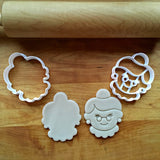 Set of 2 Mrs. Claus Cookie Cutters/Dishwasher Safe
