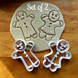 Set of 2 Gingerbread Boy and Girl Cookie Cutters/Dishwasher Safe