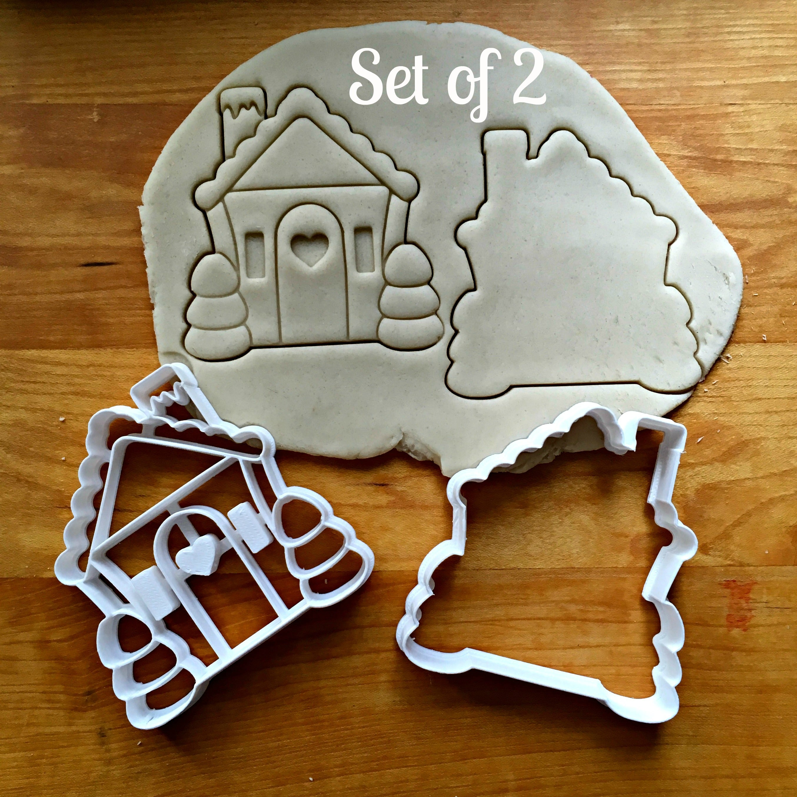 Set of 2 Gingerbread House Cookie Cutters