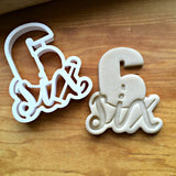 Lettered Number 6 Cookie Cutter/Dishwasher Safe