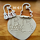Set of 2 Lettered Number 6 Cookie Cutters/Dishwasher Safe