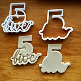 Set of 2 Lettered Number 5 Cookie Cutters/Dishwasher Safe