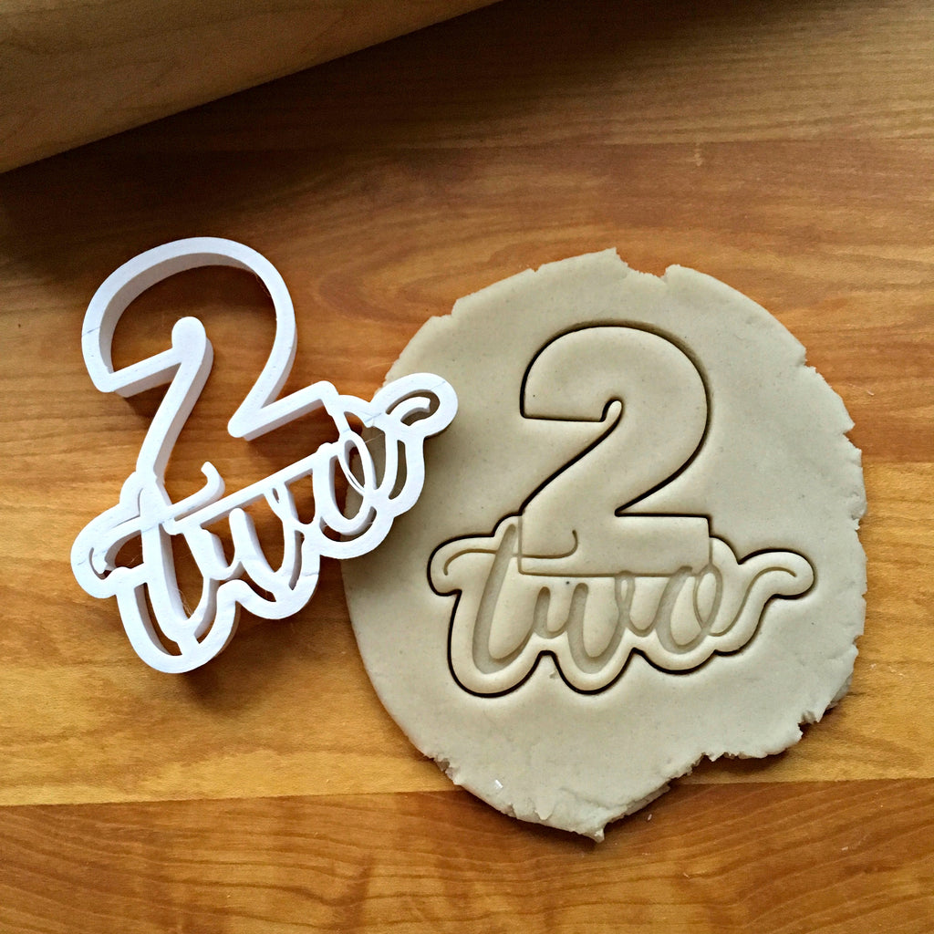 Lettered Number 2 Cookie Cutter/Dishwasher Safe