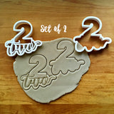 Set of 2 Lettered Number 2 Cookie Cutters/Dishwasher Safe