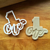 Lettered Number 1 Cookie Cutter/Dishwasher Safe
