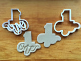 Set of 2 Lettered Number 1 Cookie Cutters/Dishwasher Safe