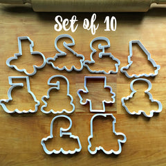Set of 10 Lettered Number Cutters 1-10/Dishwasher Safe