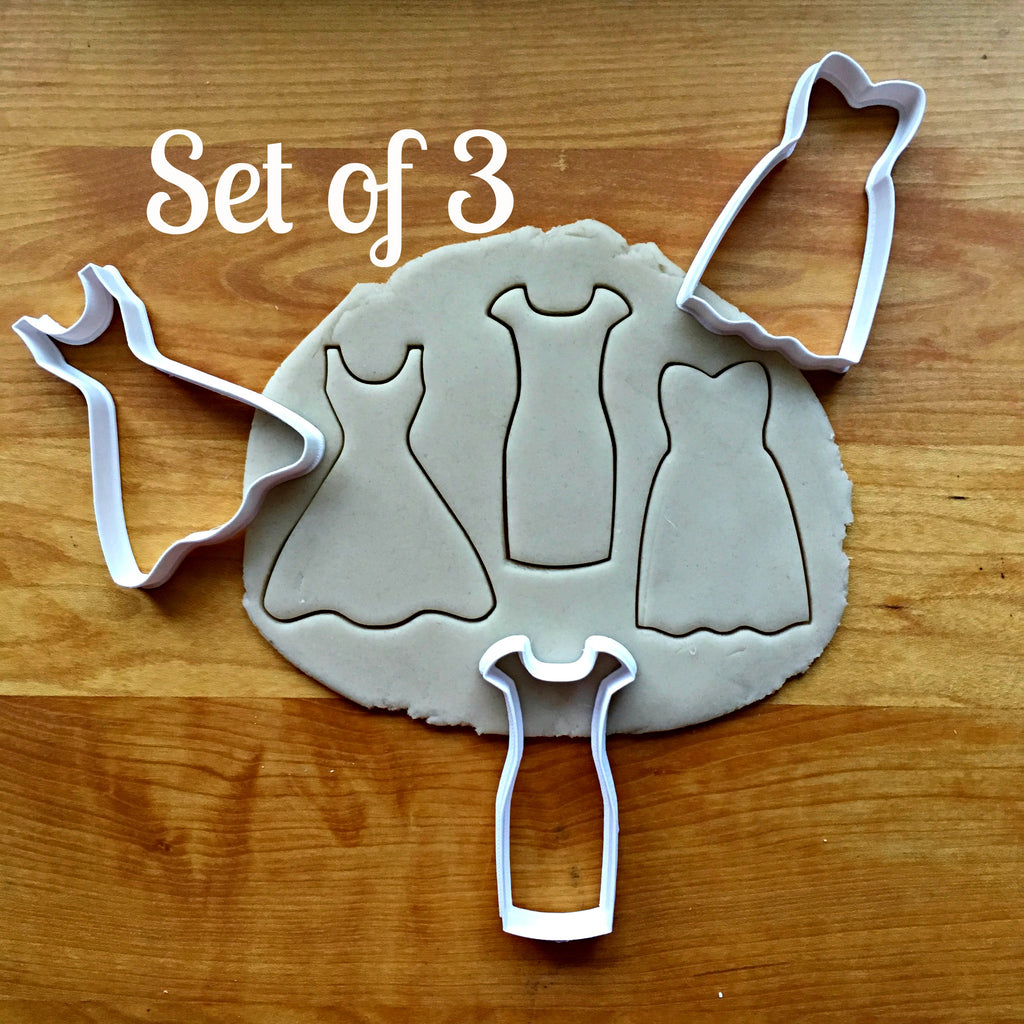 Set of 3 Dress Cookie Cutters