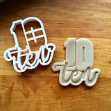 Lettered Number 10 Cookie Cutter/Dishwasher Safe
