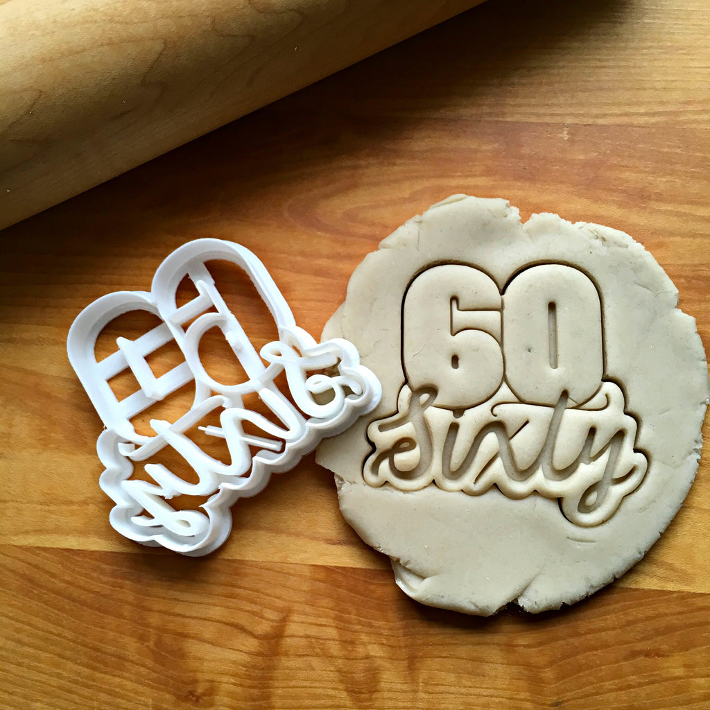Lettered Number 60 Cookie Cutter/Dishwasher Safe