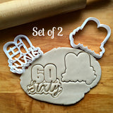 Set of 2 Lettered Number 60 Cookie Cutters