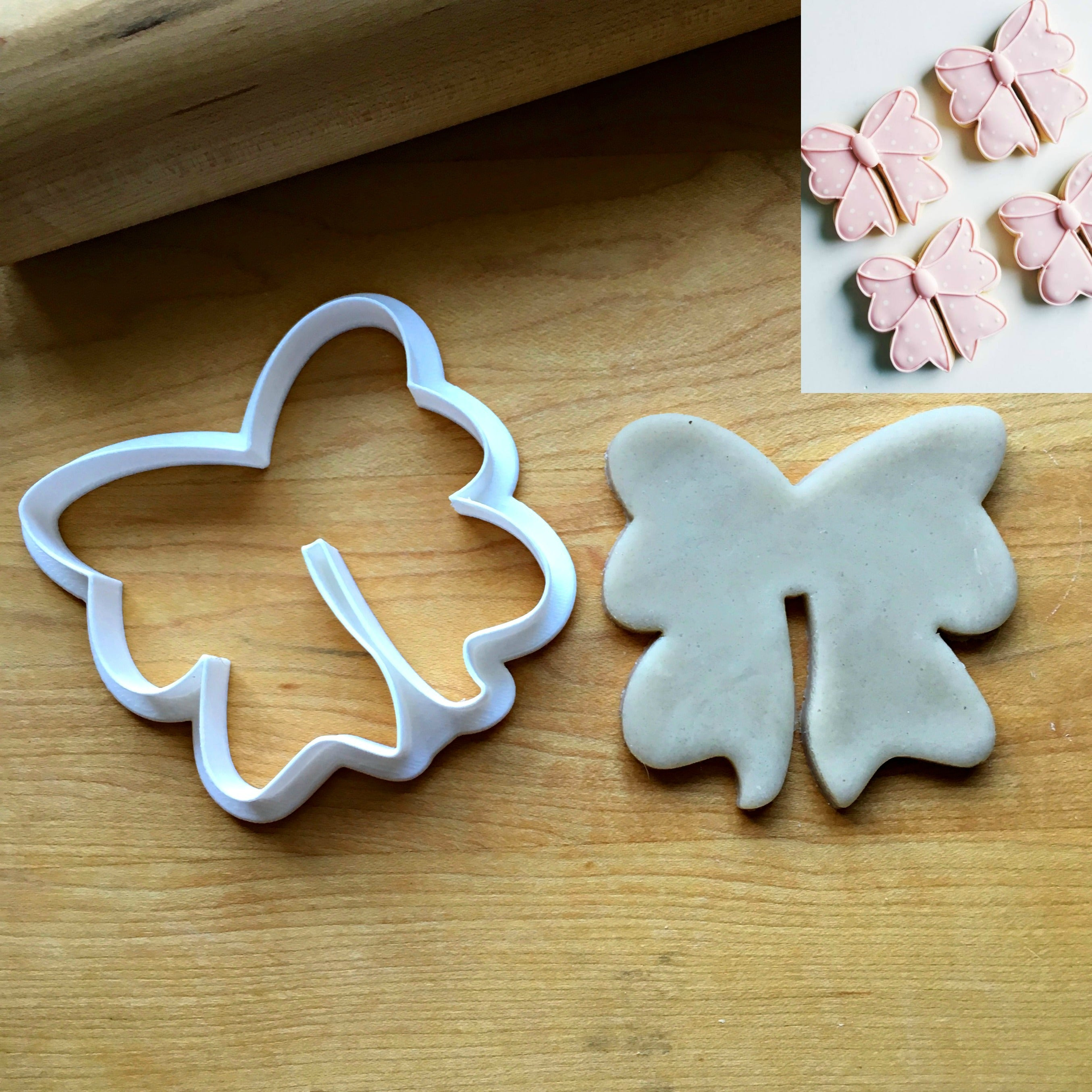 Ribbon/Bow Cookie Cutter/Dishwasher Safe