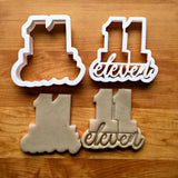 Set of 2 Lettered Number 11 Cookie Cutters/Dishwasher Safe