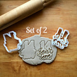 Set of 2 Lettered Number 14 Cookie Cutters/Dishwasher Safe