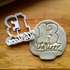 Lettered Number 13 Cookie Cutter/Dishwasher Safe