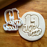 Lettered Number 19 Cookie Cutter/Dishwasher Safe