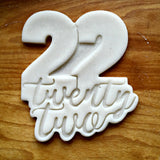 Lettered Number 22 Cookie Cutter/Dishwasher Safe