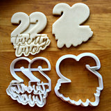 Set of 2 Lettered Number 22 Cookie Cutters/Dishwasher Safe