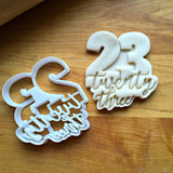 Lettered Number 23 Cookie Cutter/Dishwasher Safe