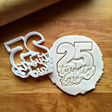 Lettered Number 25 Cookie Cutter/Dishwasher Safe