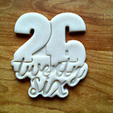 Lettered Number 26 Cookie Cutter/Dishwasher Safe