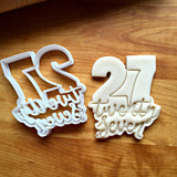 Lettered Number 27 Cookie Cutter/Dishwasher Safe