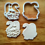 Set of 2 Lettered Number 29 Cookie Cutters/Dishwasher Safe