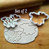 Set of 2 Bee Mine Cookie Cutters/Dishwasher Safe