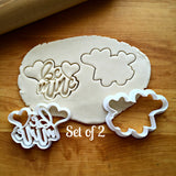Set of 2 Be Mine Cookie Cutters/Dishwasher Safe
