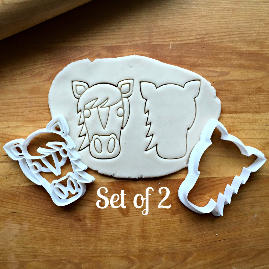 Set of 2 Horse Face Cookie Cutters/Dishwasher Safe