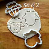 Set of 2 Sheep Face Cookie Cutters/Dishwasher Safe