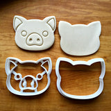 Set of 2 Pig Face Cookie Cutters/Dishwasher Safe
