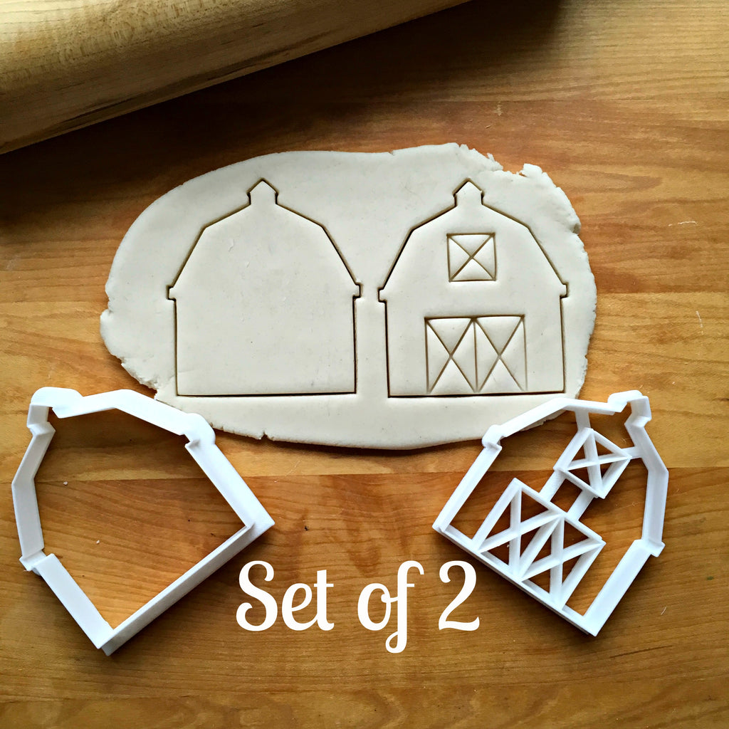 Set of 2 Barn Cookie Cutters/Dishwasher Safe